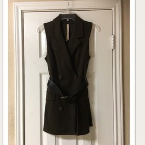 Bailey 44 Olive Green Military Belted Vest
